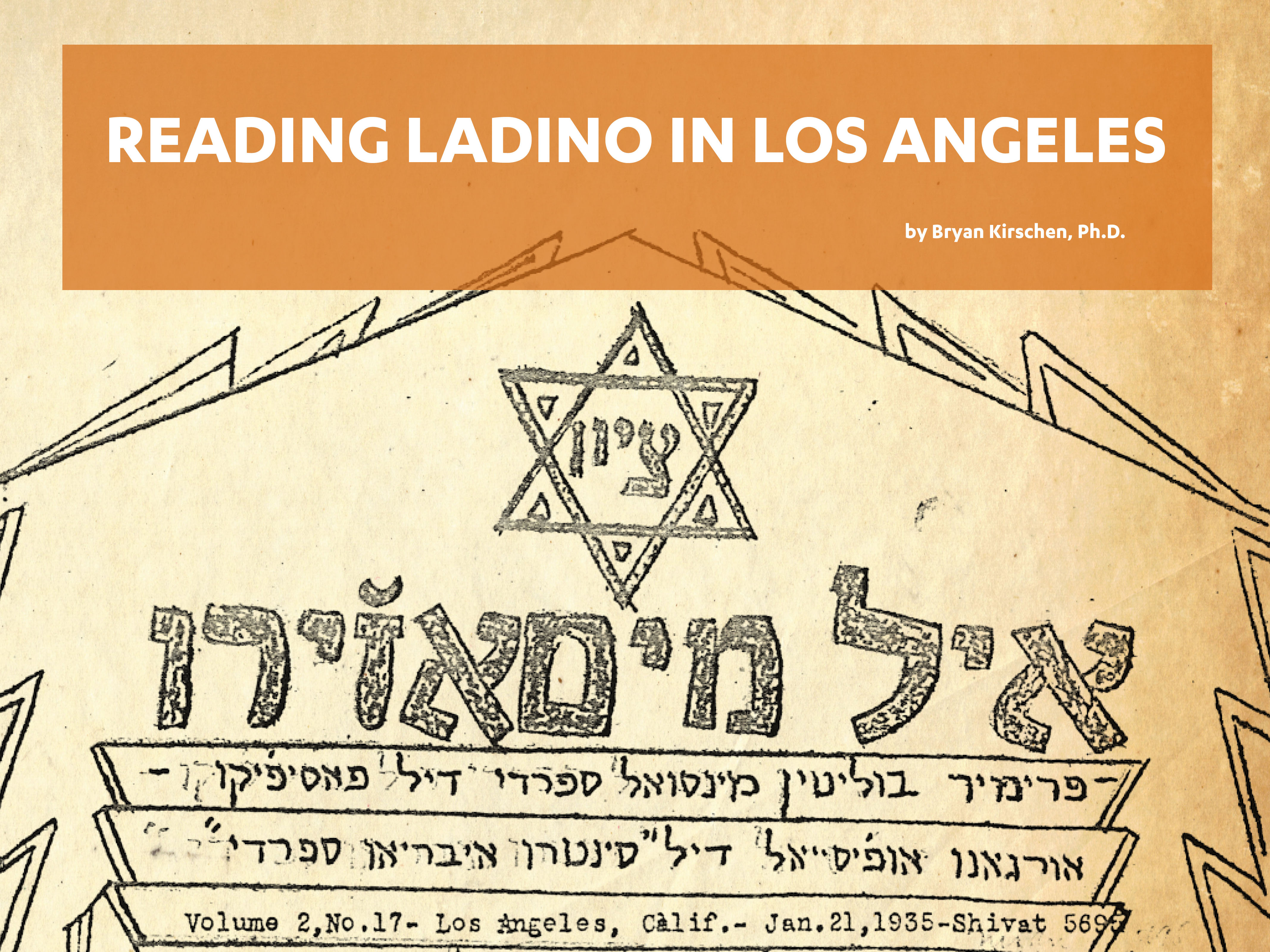 Reading Ladino in Los Angeles
