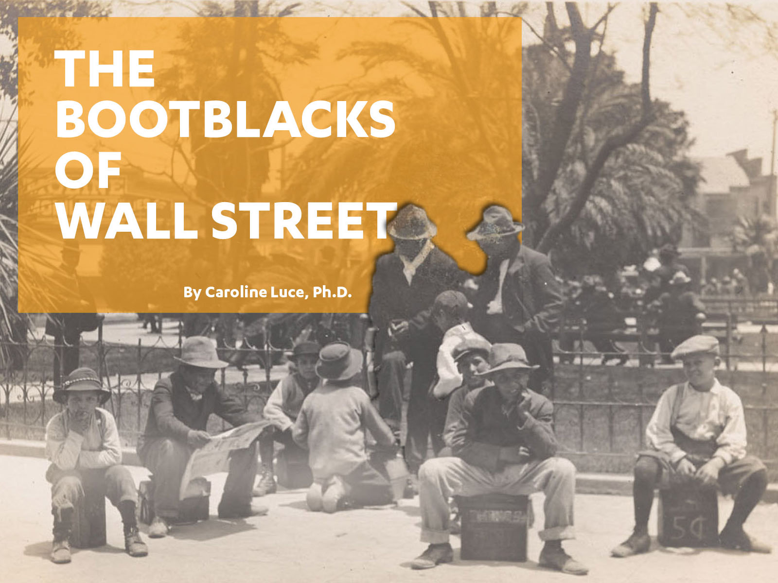 The Bootblacks of Wall Street